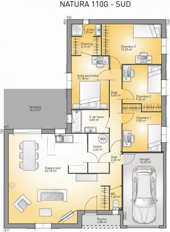Maisons + Terrains du constructeur MAISONS FRANCE CONFORT • 110 m² • CUGNAUX