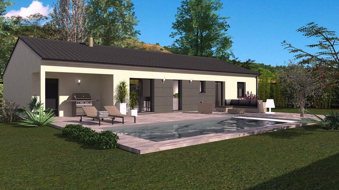 Maisons + Terrains du constructeur MAISON FAMILIALE • 90 m² • JONS