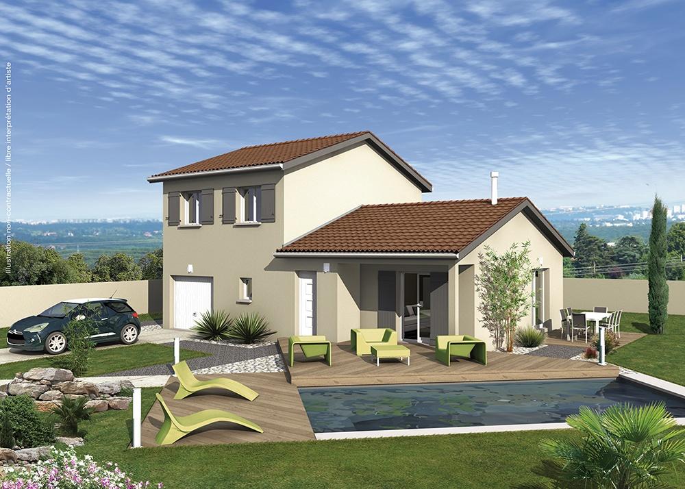 Maisons + Terrains du constructeur MAISONS PUNCH BOURGOIN • 85 m² • SAINT DIDIER DE LA TOUR