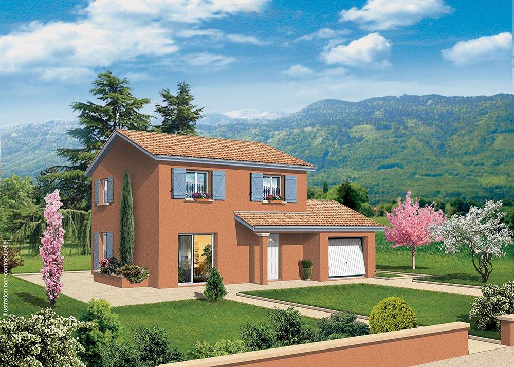 Maisons + Terrains du constructeur MAISONS PUNCH BOURGOIN • 94 m² • SAINT DIDIER DE LA TOUR