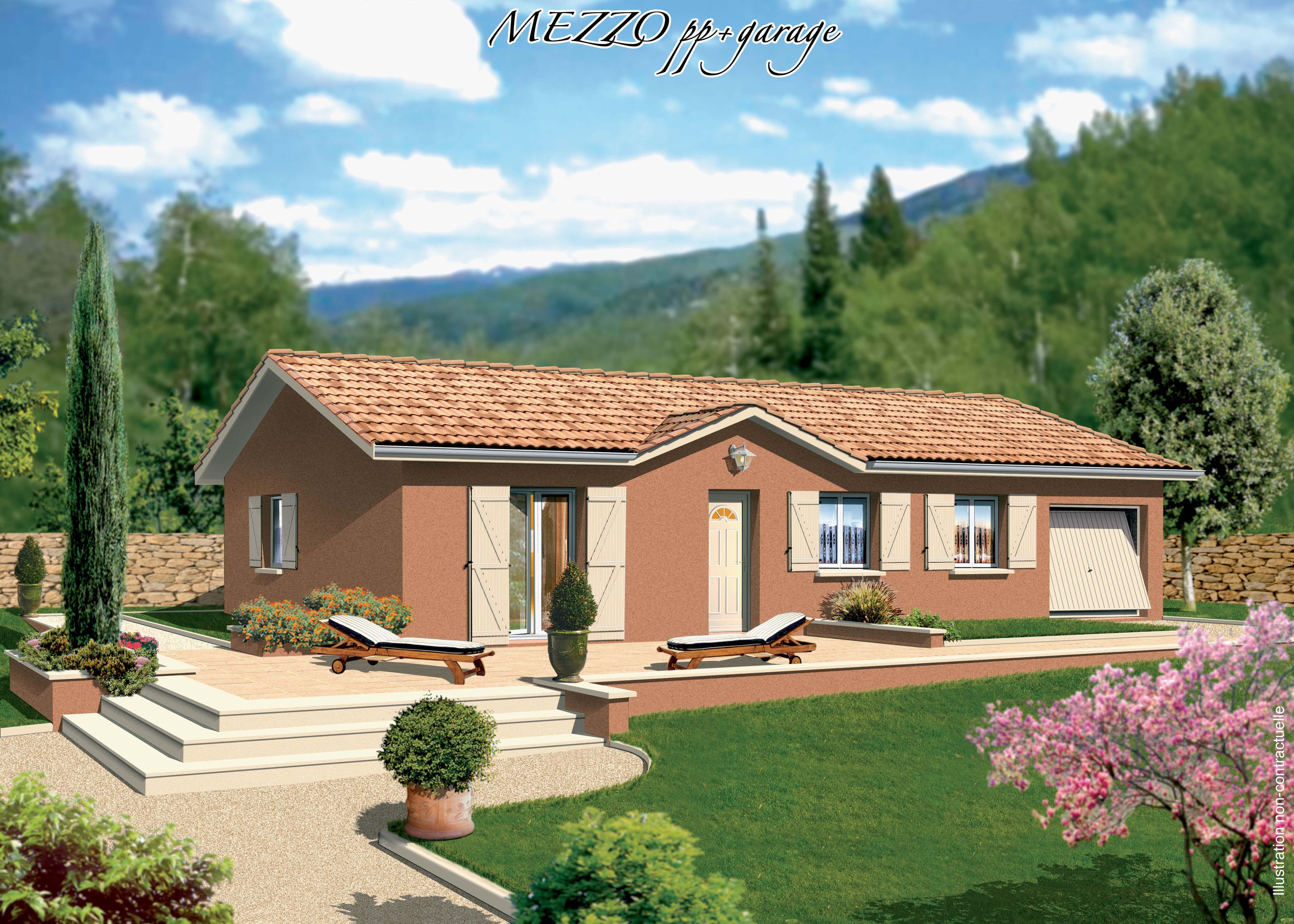 Maisons + Terrains du constructeur MAISONS PUNCH BOURGOIN • 92 m² • SAINT DIDIER DE LA TOUR