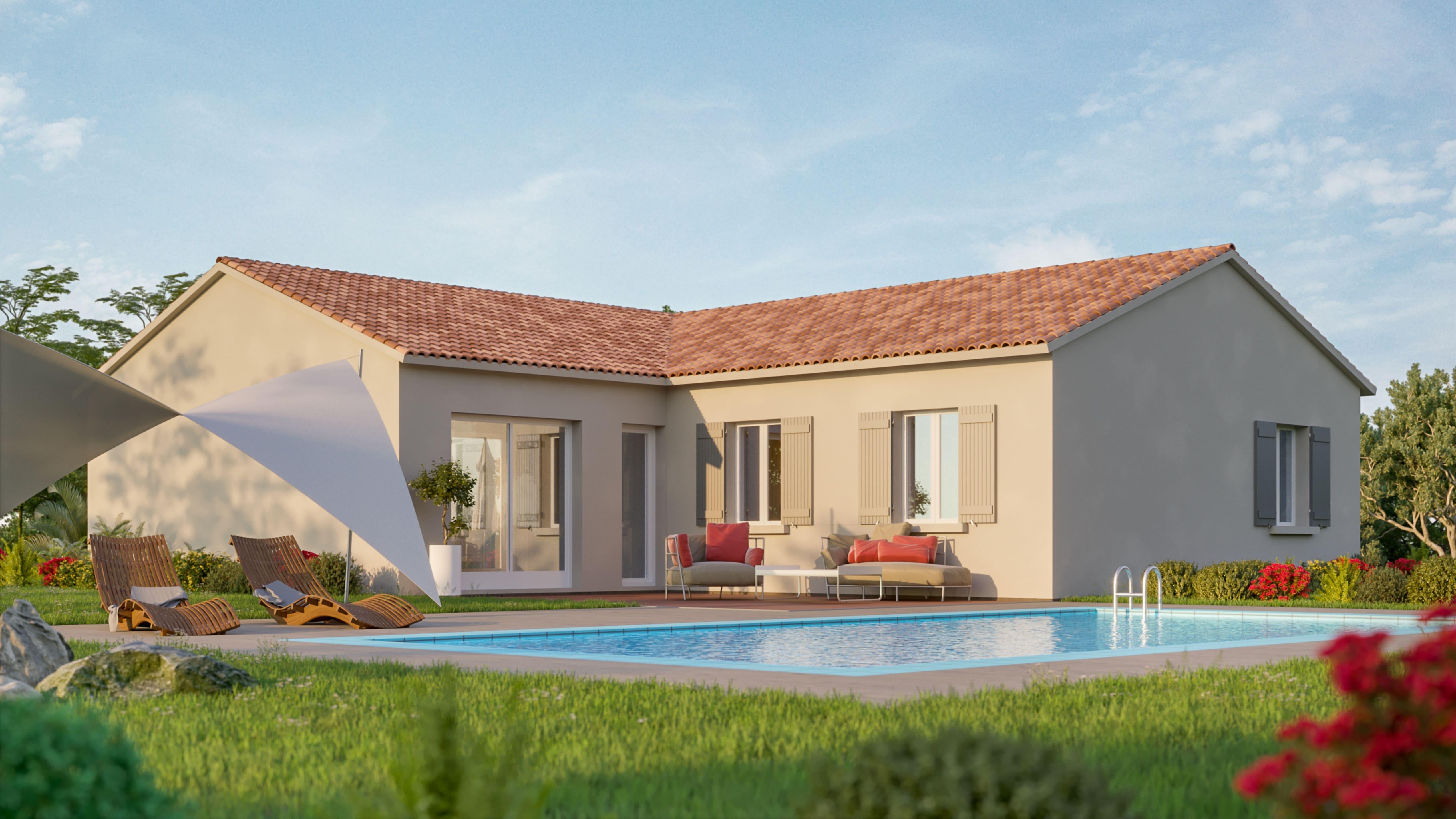 Maisons + Terrains du constructeur VIV'HOME • 96 m² • DOMPIERRE SUR MER