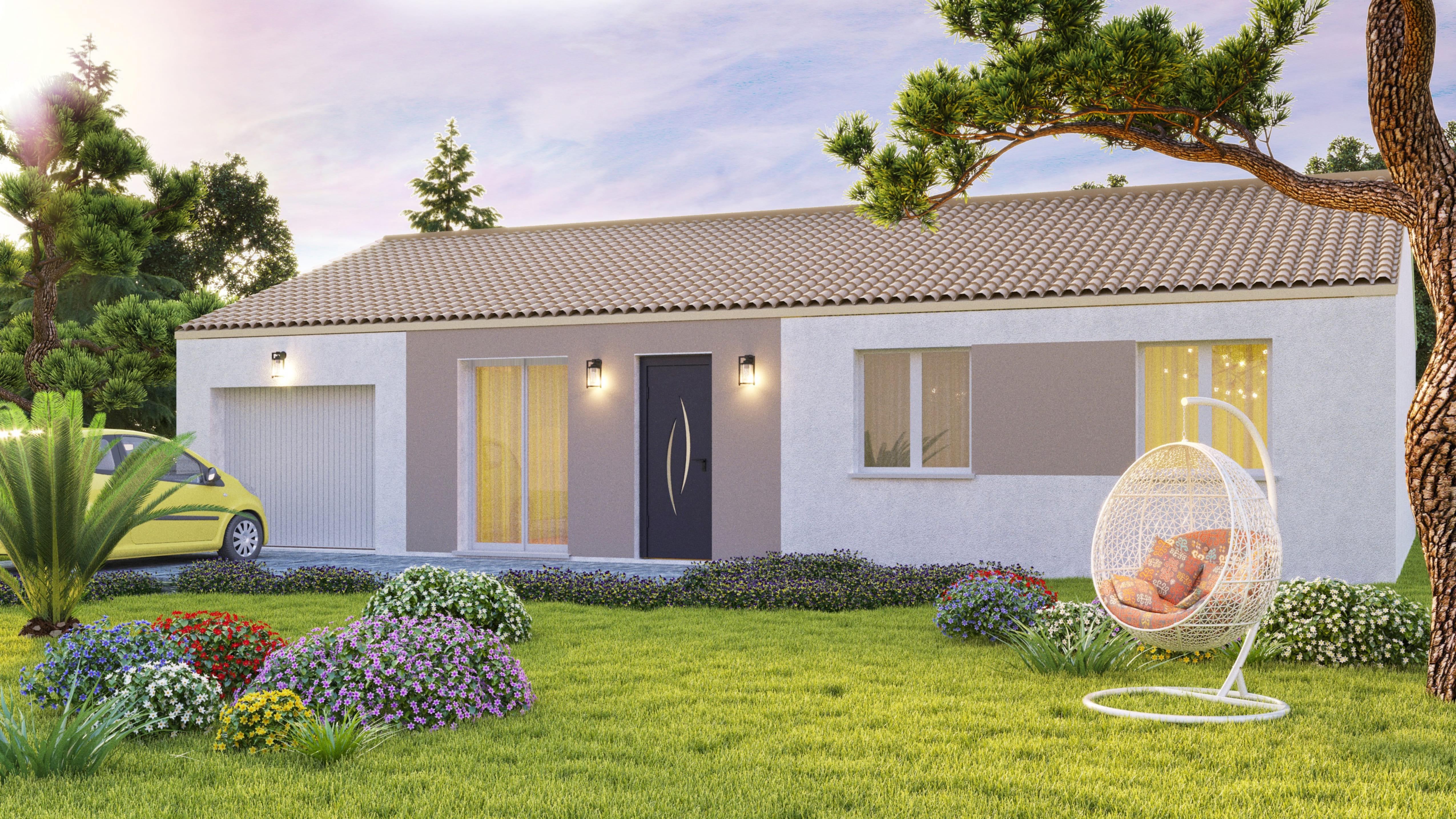 Maisons + Terrains du constructeur VIV'HOME • 70 m² • LE THOU