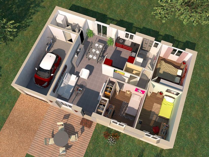 Maisons + Terrains du constructeur VIV'HOME • 81 m² • FERRIERES