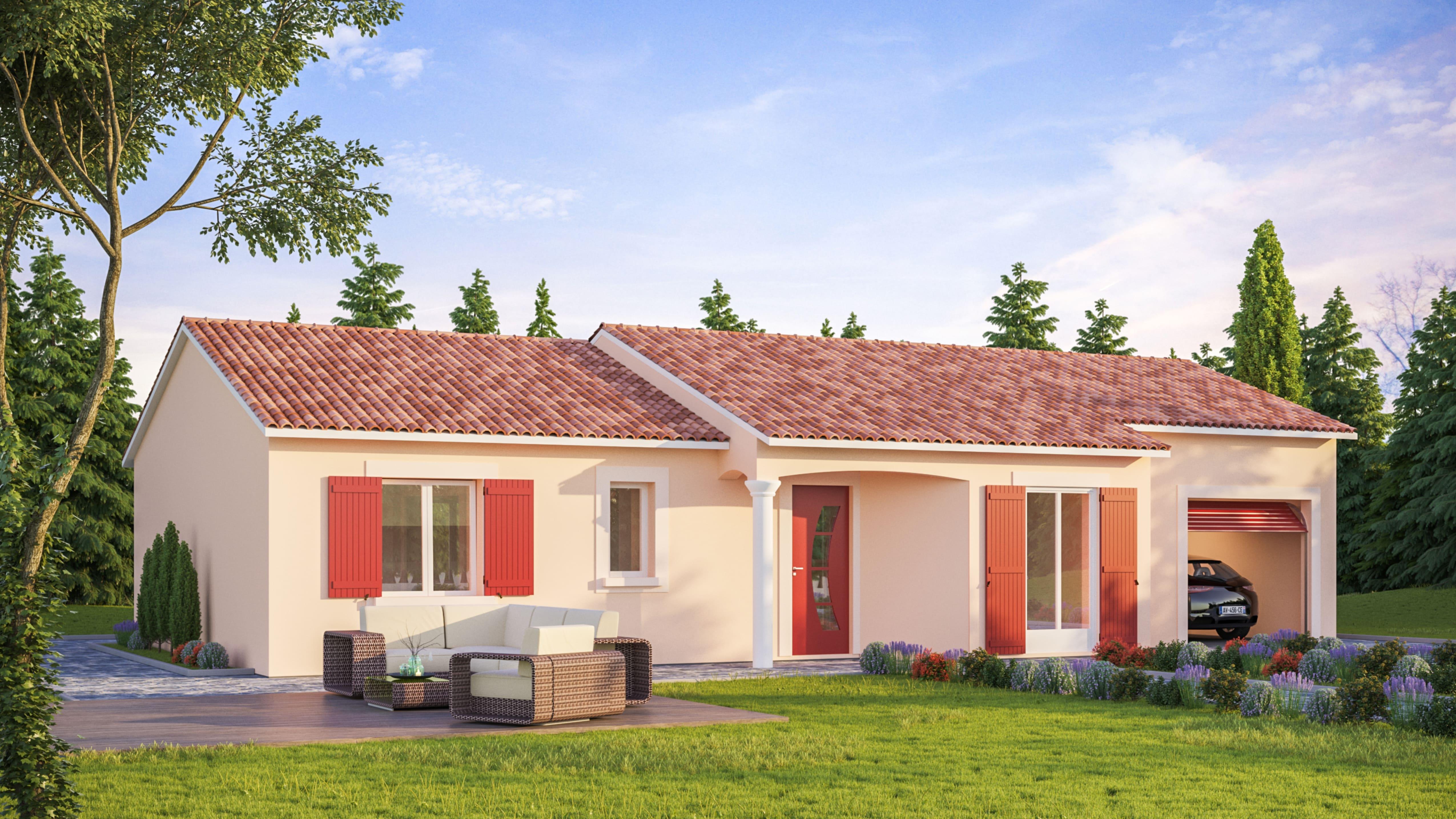 Maisons + Terrains du constructeur VIV'HOME • 98 m² • COURCON