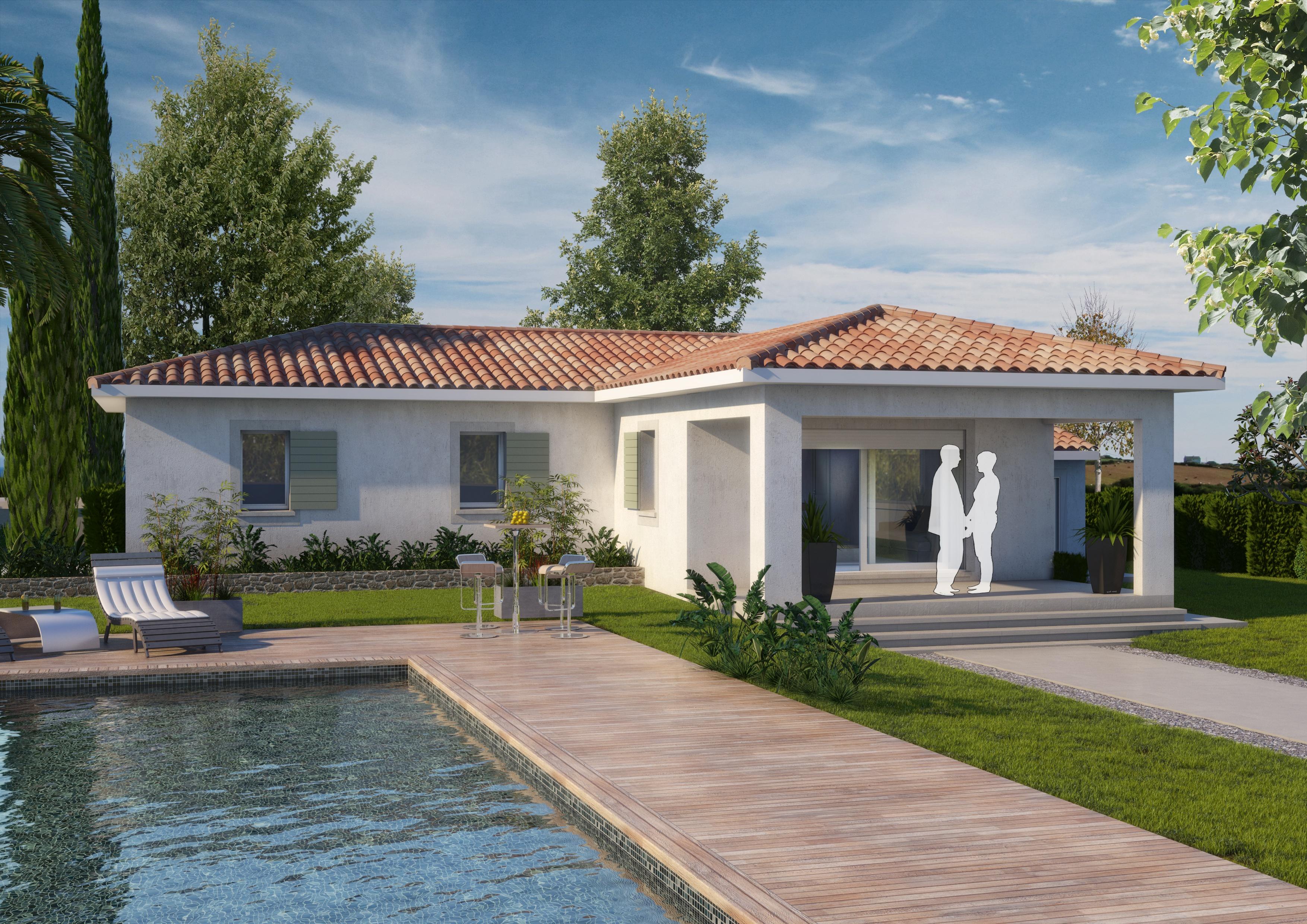 Maisons + Terrains du constructeur ART ET TRADITIONS MEDITERRANEE • 100 m² • SAINT JULIEN DE PEYROLAS