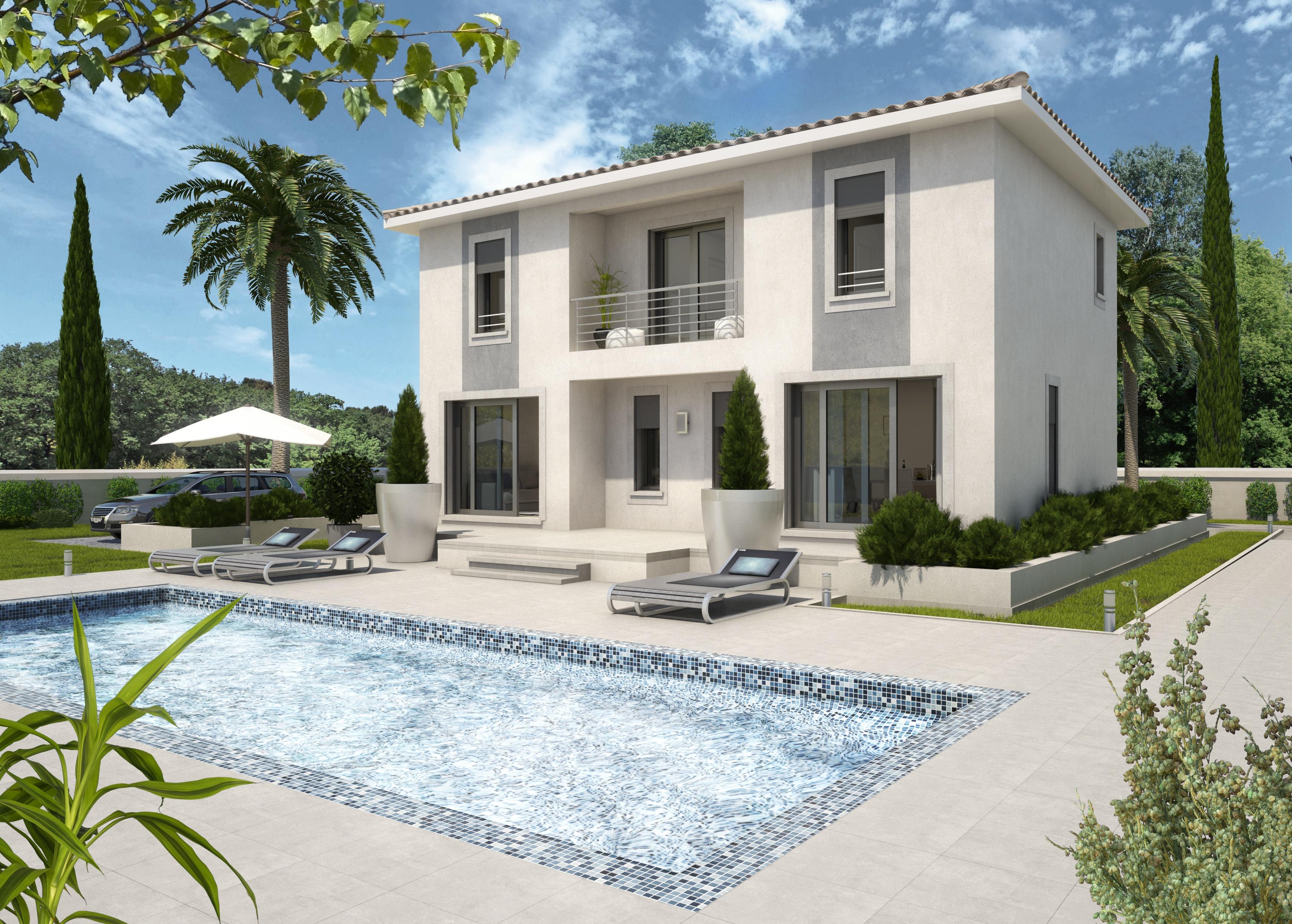 Maisons + Terrains du constructeur ART ET TRADITIONS MEDITERRANEE • 120 m² • SAINT JULIEN DE PEYROLAS