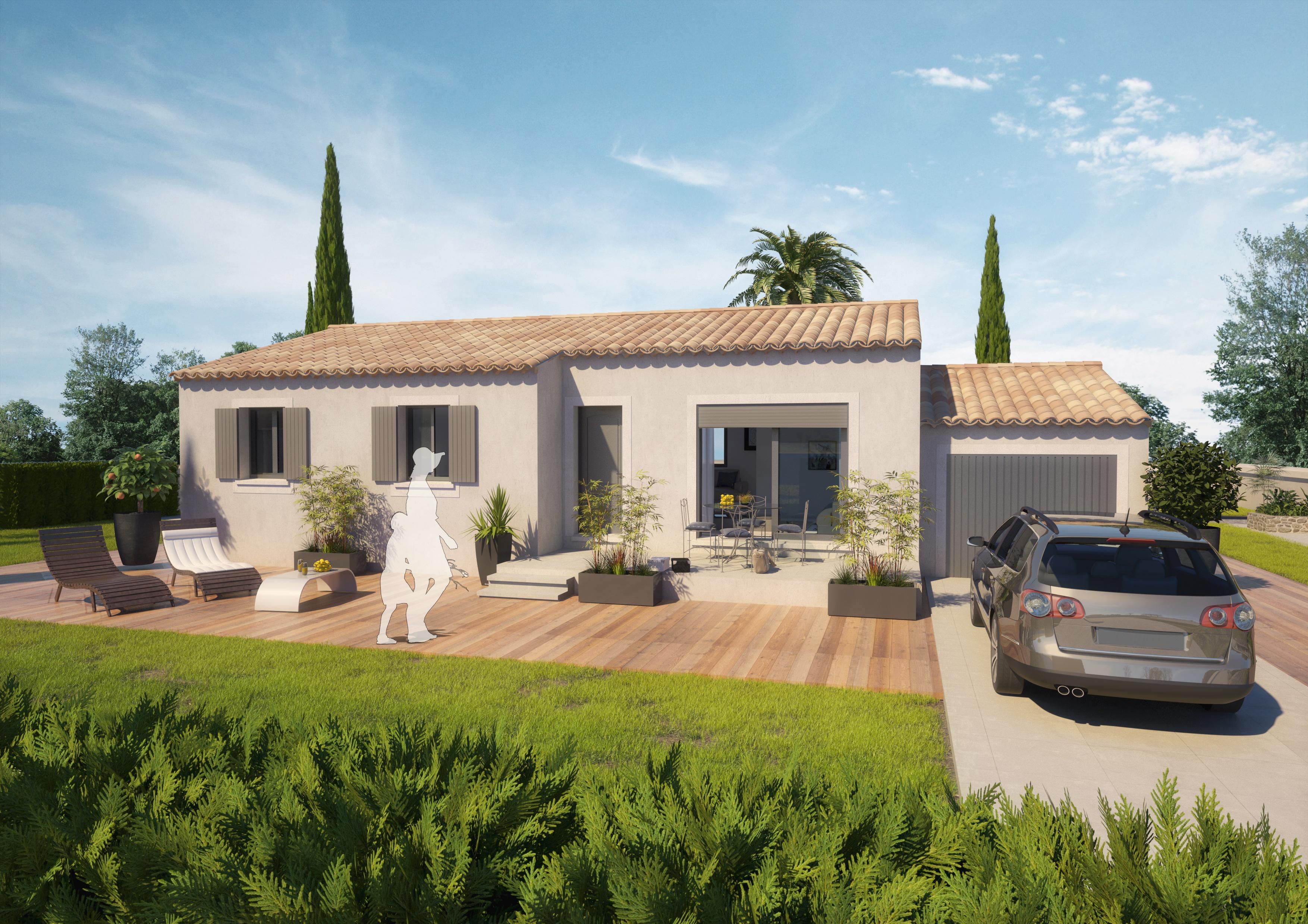 Maisons + Terrains du constructeur ART ET TRADITIONS MEDITERRANEE • 93 m² • PUJAUT