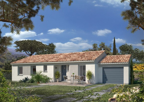 Maisons + Terrains du constructeur MAISON FAMILIALE • 74 m² • LORGUES
