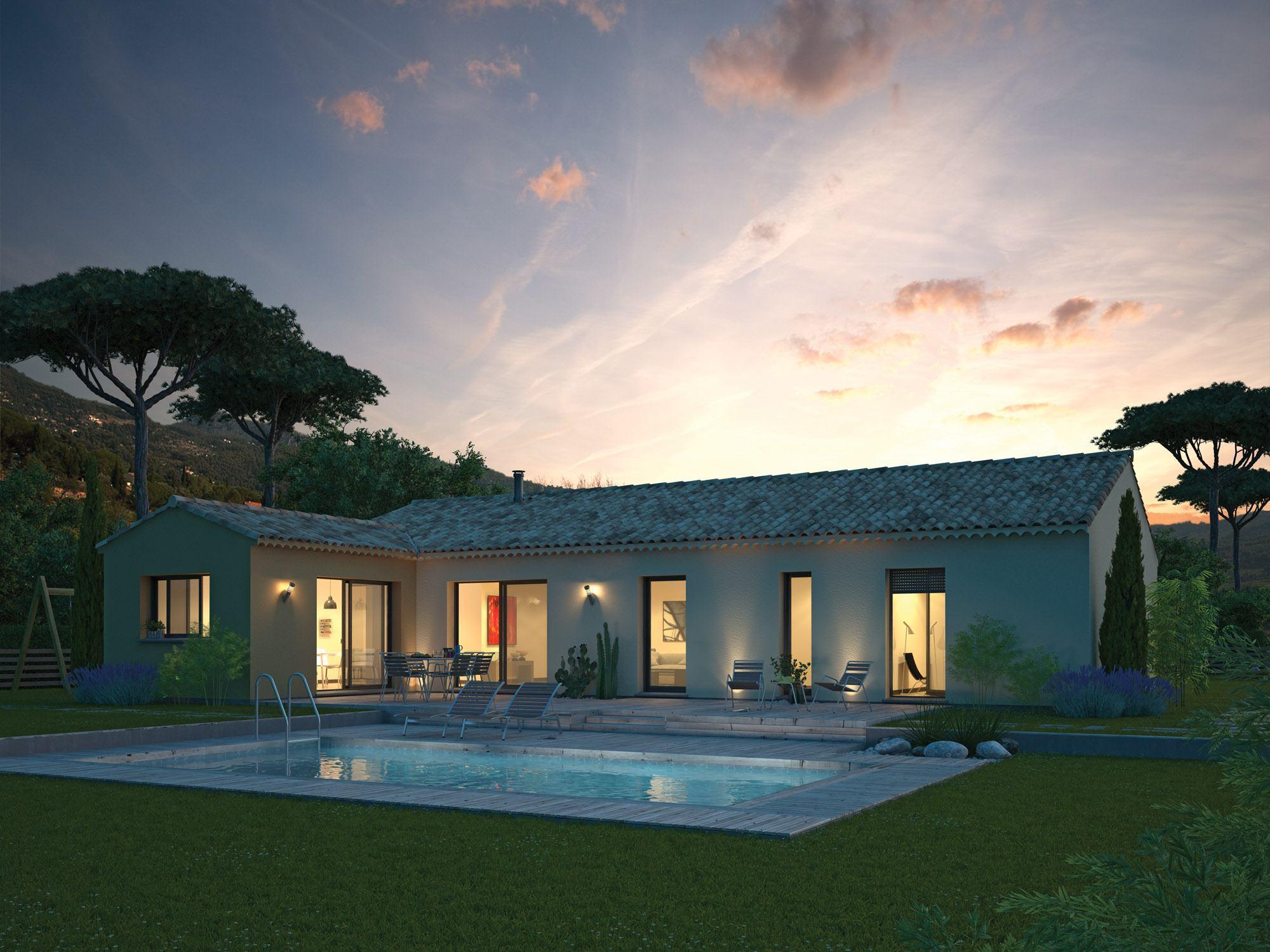 Maisons + Terrains du constructeur MAISON FAMILIALE • 122 m² • LE MUY