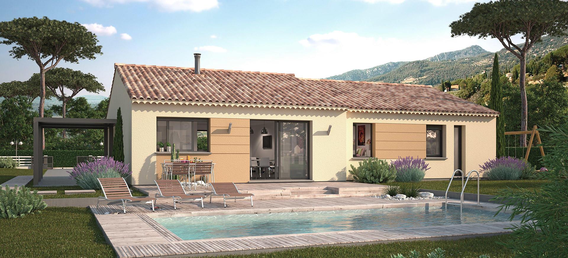 Maisons + Terrains du constructeur MAISON FAMILIALE • 87 m² • VIDAUBAN