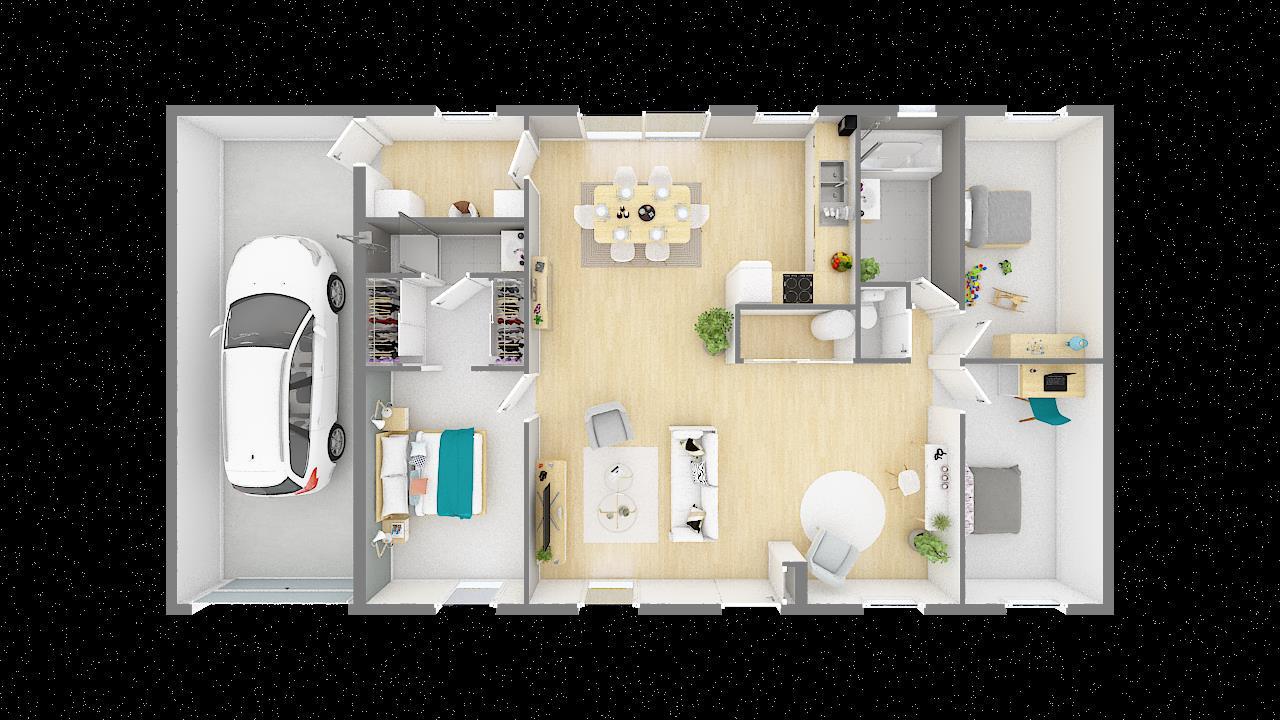 Maisons + Terrains du constructeur MAISONS PHENIX • 99 m² • LENS LESTANG