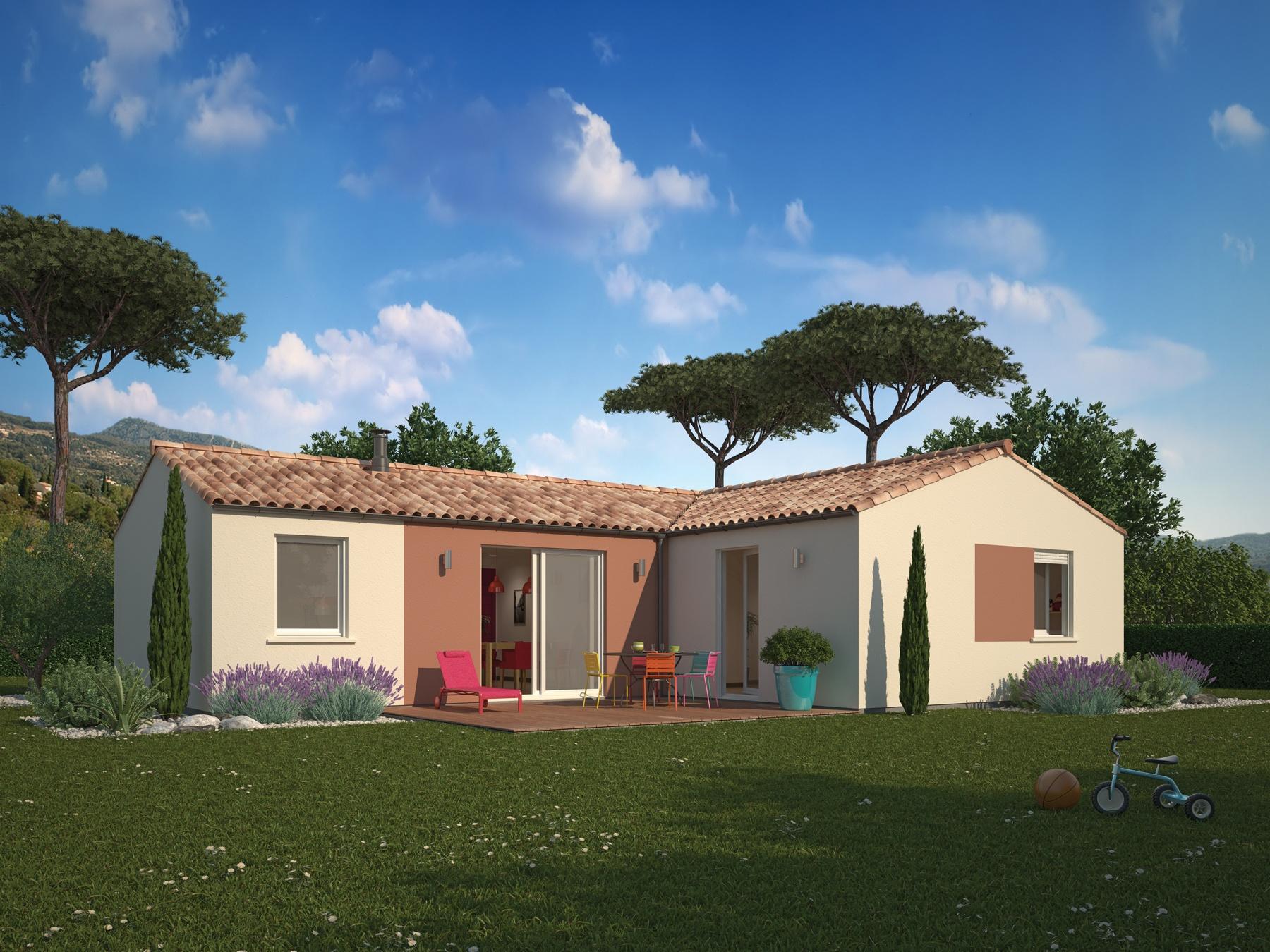 Maisons + Terrains du constructeur MAISONS PHENIX • 80 m² • LA COUCOURDE