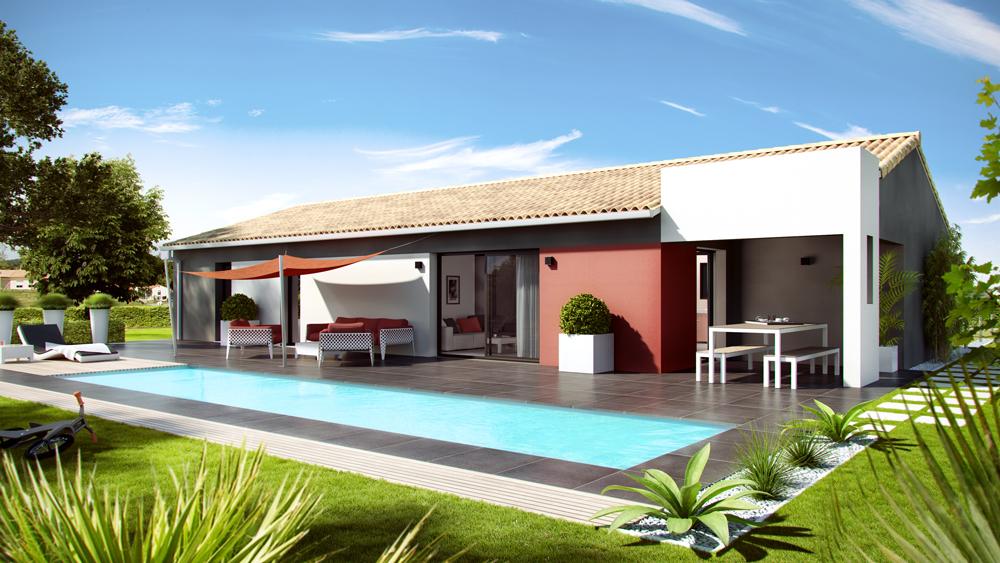 Maisons + Terrains du constructeur SO'9 HABITAT • 90 m² • SAINT AUBIN DE MEDOC