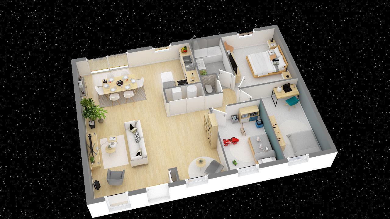 Maisons + Terrains du constructeur MAISONS PHENIX • 89 m² • ATTIN