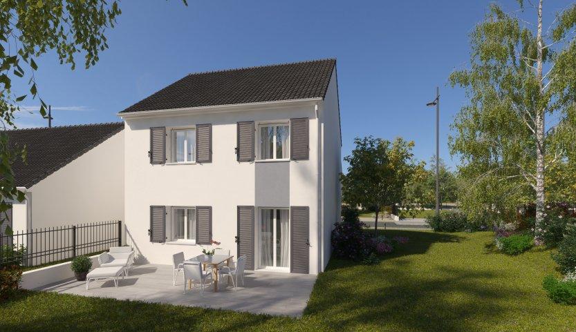 Maisons du constructeur MAISONS PIERRE STE GENEVIEVE DES BOIS • 87 m² • BRUYERES LE CHATEL