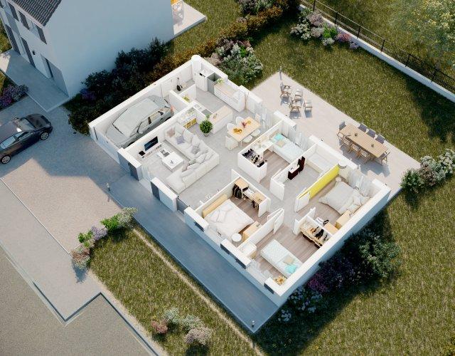 Maisons du constructeur MAISONS PIERRE STE GENEVIEVE DES BOIS • 99 m² • SAINTE GENEVIEVE DES BOIS