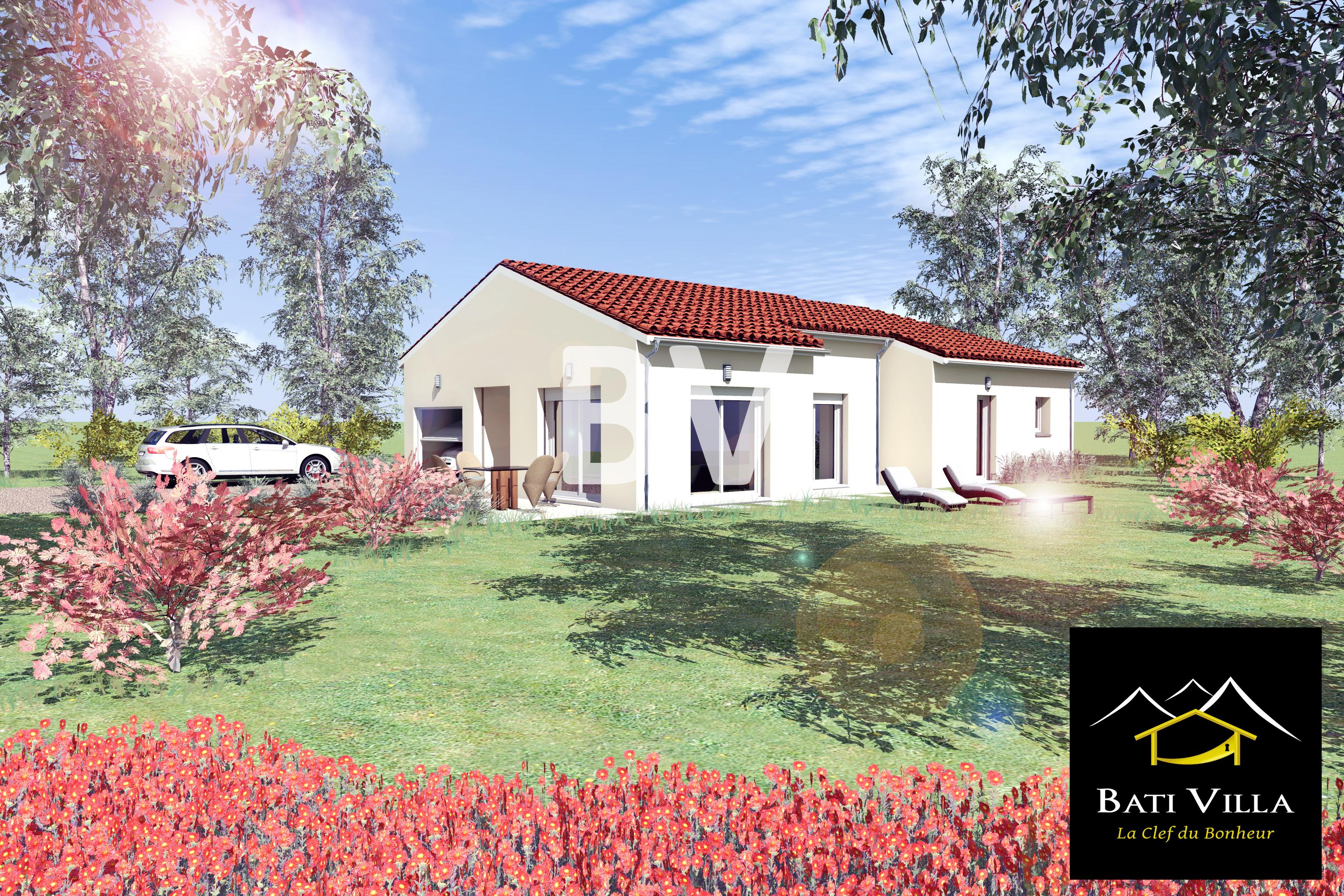 Maisons + Terrains du constructeur BATIVILLA SARL A&K • 91 m² • SAINT GERVAIS SUR ROUBION