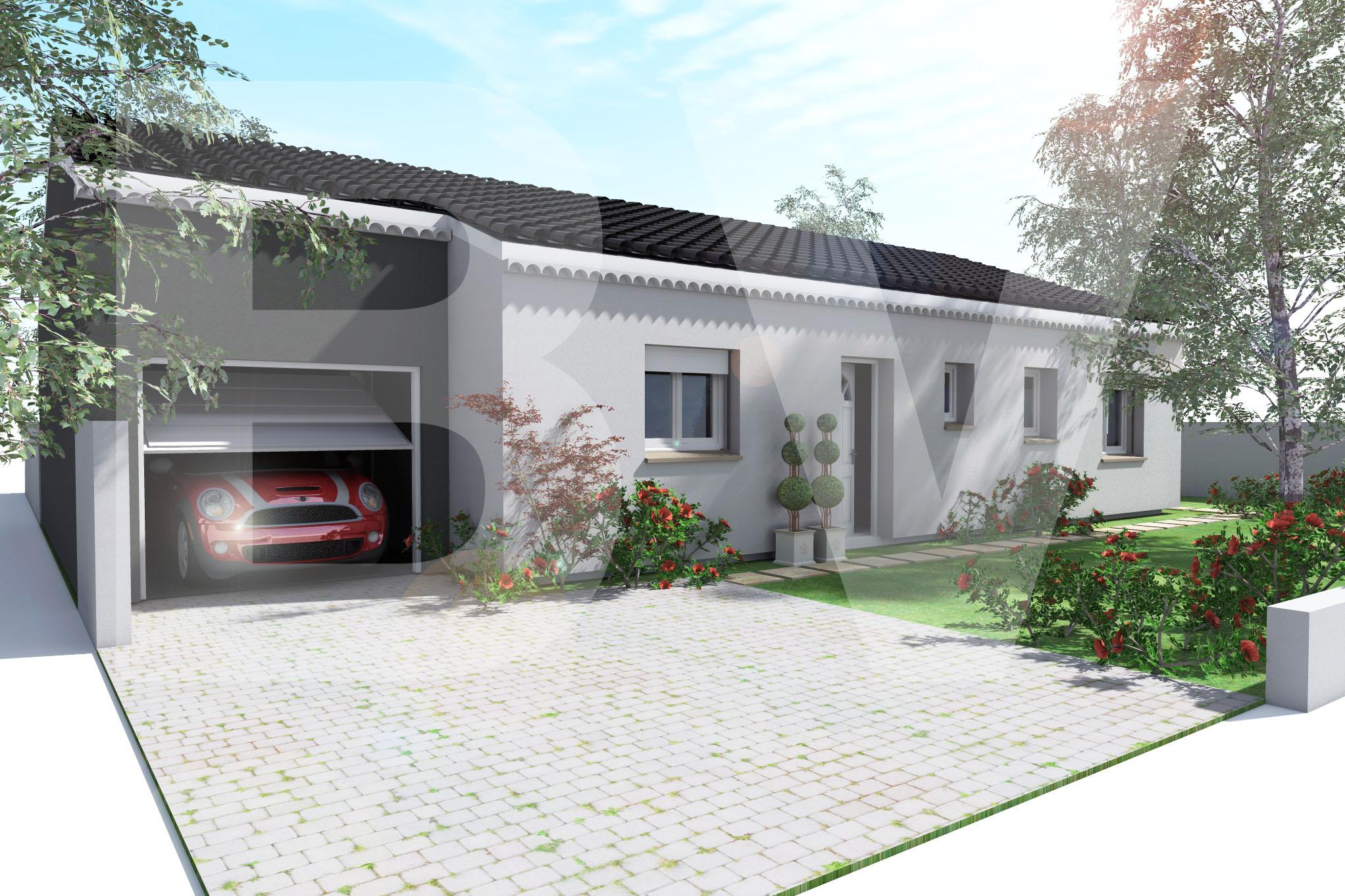 Maisons + Terrains du constructeur BATIVILLA SARL A&K • 91 m² • SAINT DONAT SUR L'HERBASSE