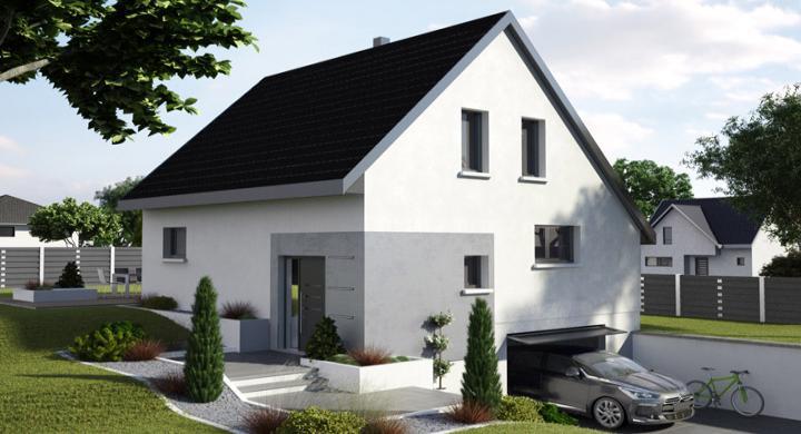 Maisons + Terrains du constructeur MAISONS STEPHANE BERGER SUD ALSACE • 108 m² • HIRSINGUE