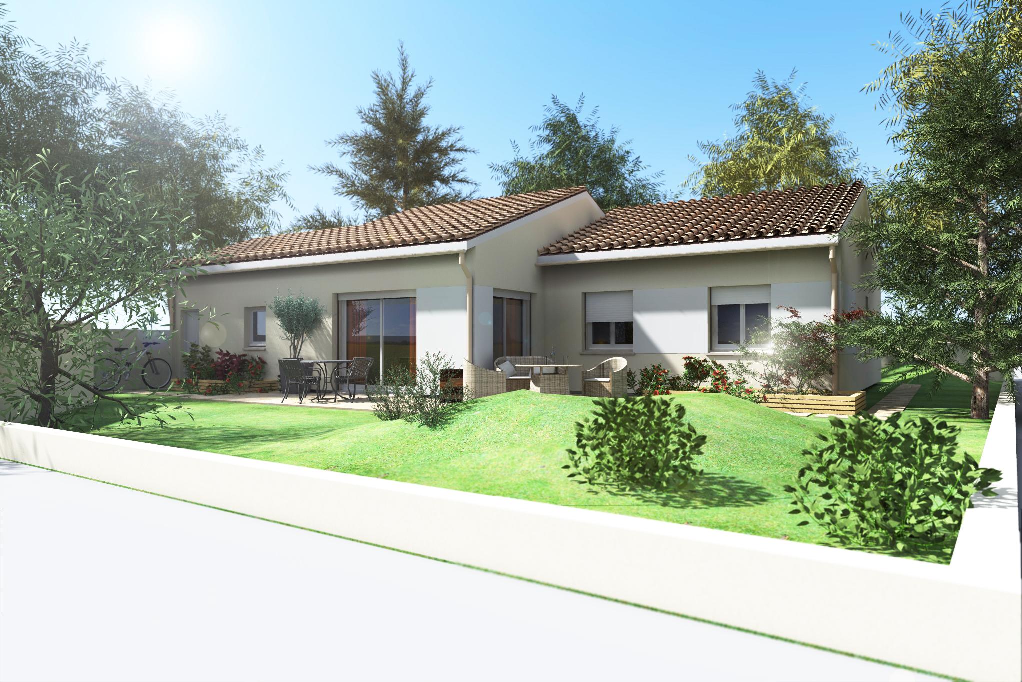Maisons + Terrains du constructeur VILLAS PLEIN SUD -PRO RENOV26/07-D • 90 m² • SAINT ROMANS