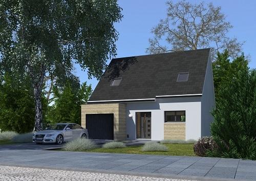 Maisons + Terrains du constructeur HABITAT CONCEPT • 85 m² • SECLIN