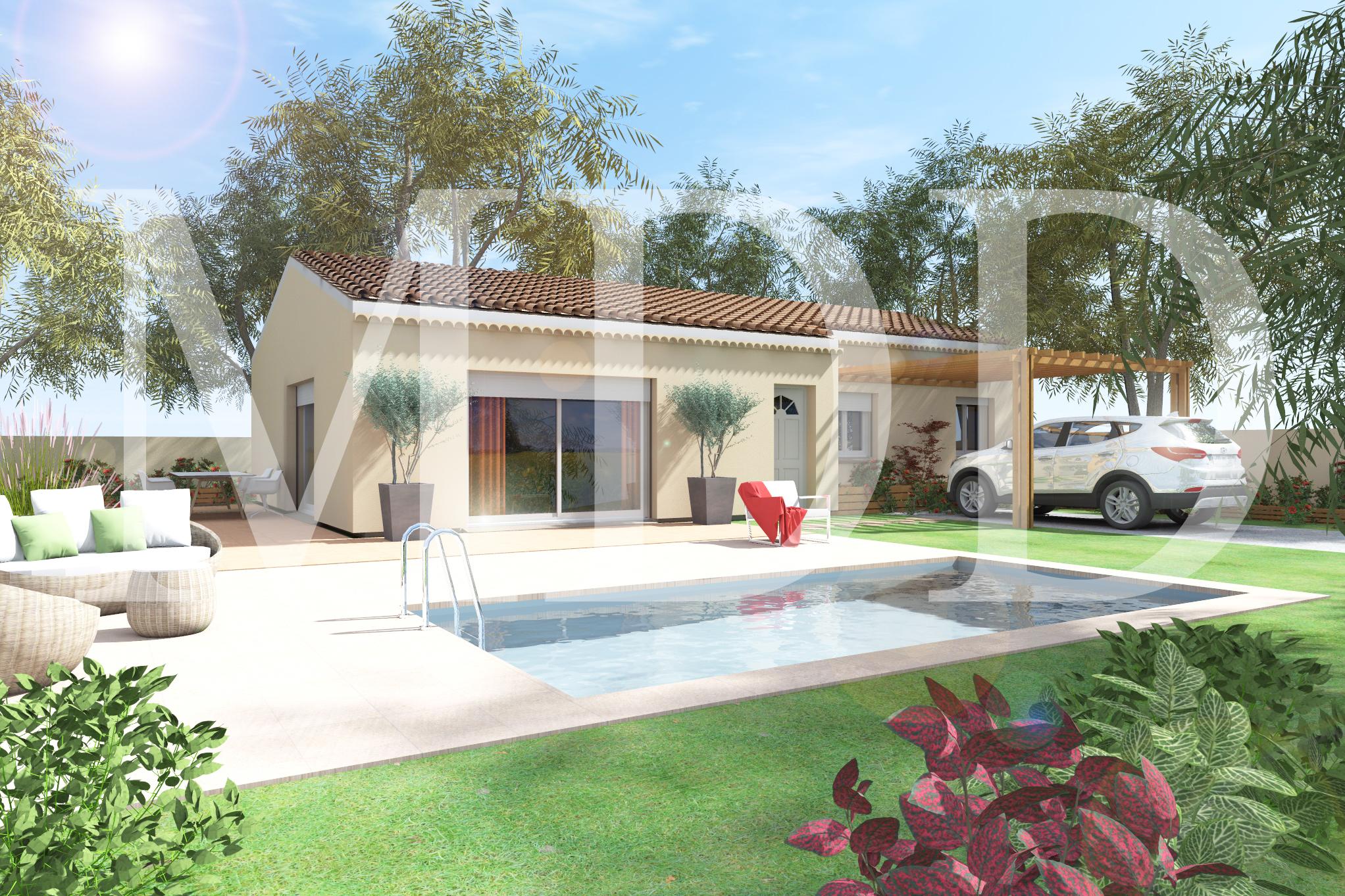 Maisons + Terrains du constructeur MAISON DU DAUPHINE • 80 m² • SARRAS