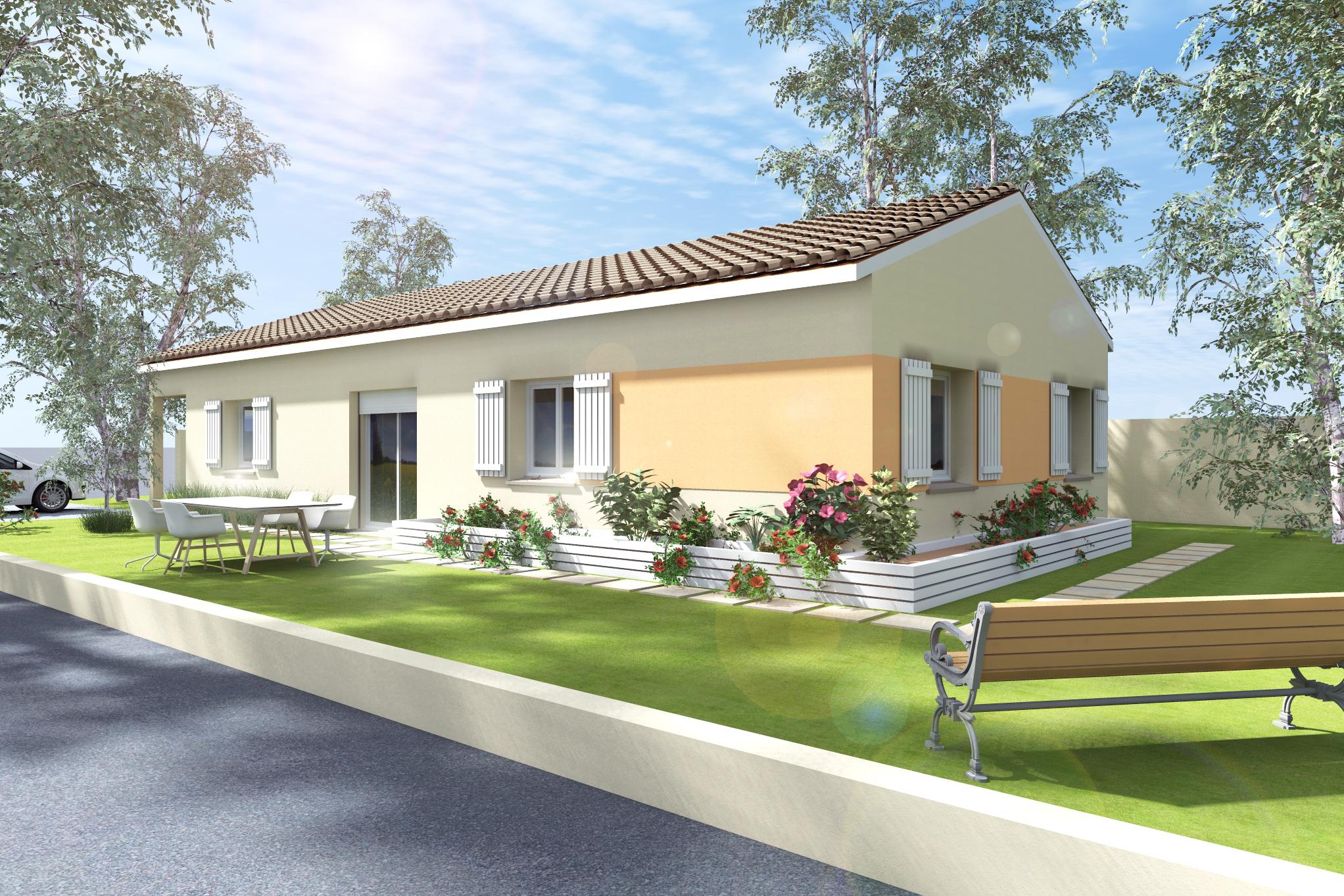 Maisons + Terrains du constructeur MAISON DU DAUPHINE • 85 m² • LAMASTRE