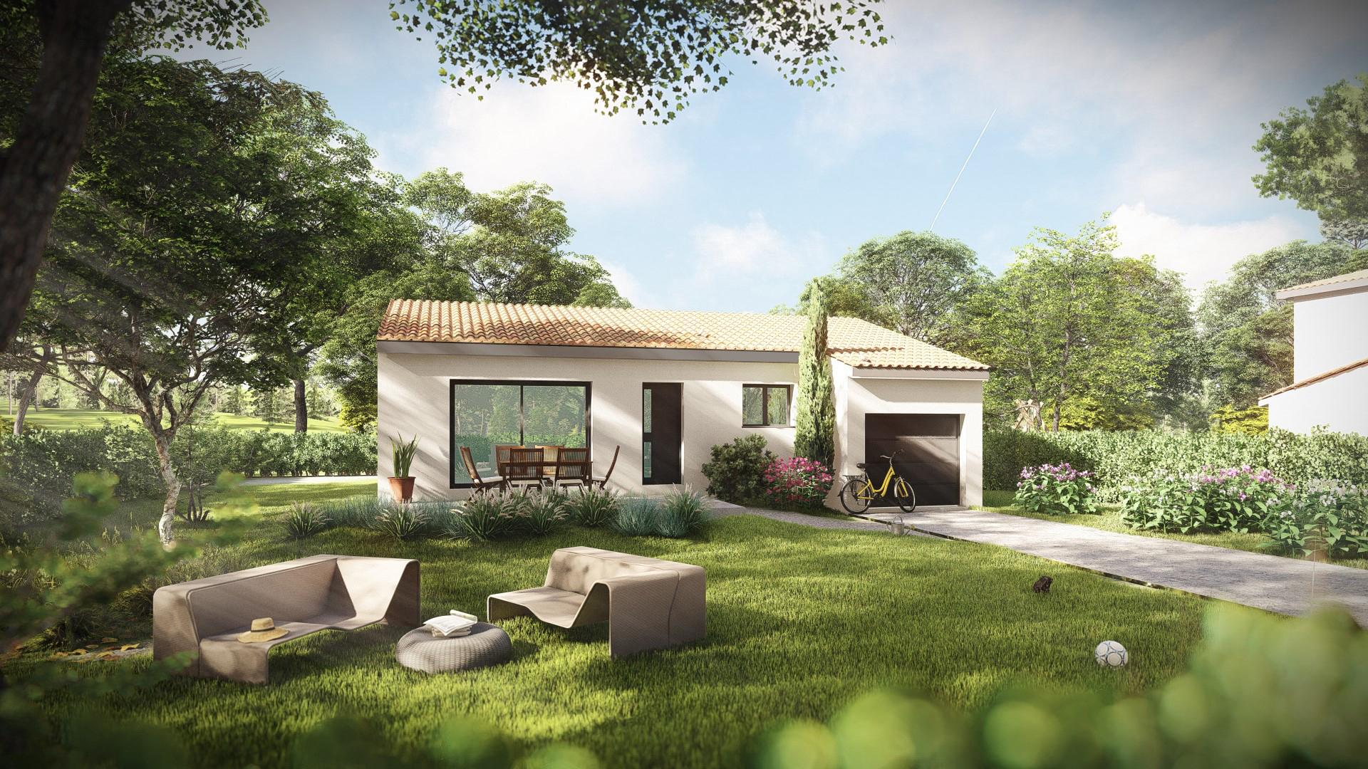 Maisons + Terrains du constructeur MV PROMOTION • 85 m² • SAINT BAUZILLE DE MONTMEL