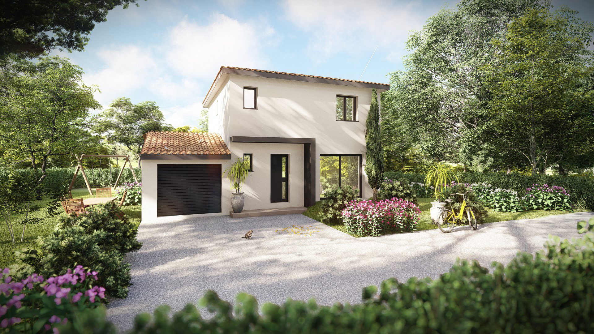 Maisons + Terrains du constructeur MV PROMOTION • 90 m² • SUSSARGUES