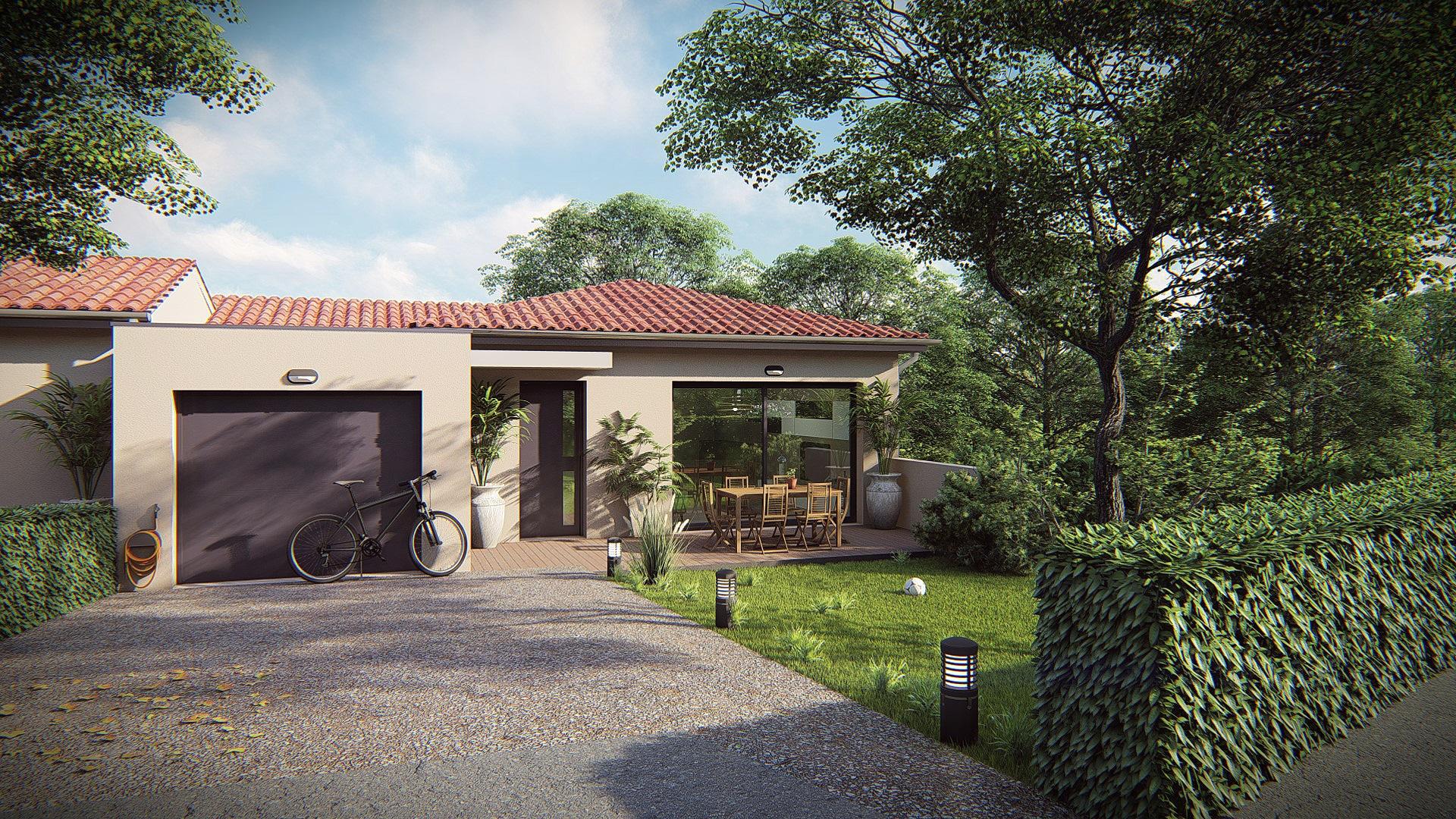 Maisons + Terrains du constructeur MV PROMOTION • 106 m² • MONTFERRIER SUR LEZ