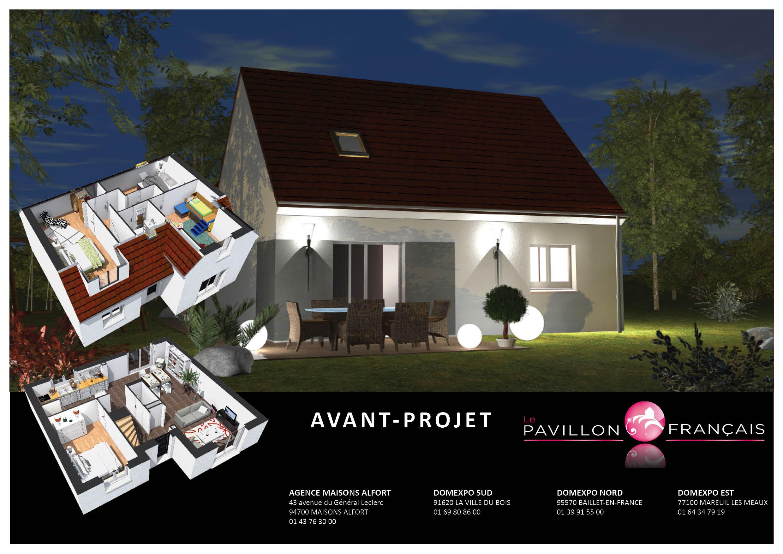 Maisons + Terrains du constructeur LE PAVILLON FRANCAIS • 110 m² • LE MESNIL SAINT DENIS