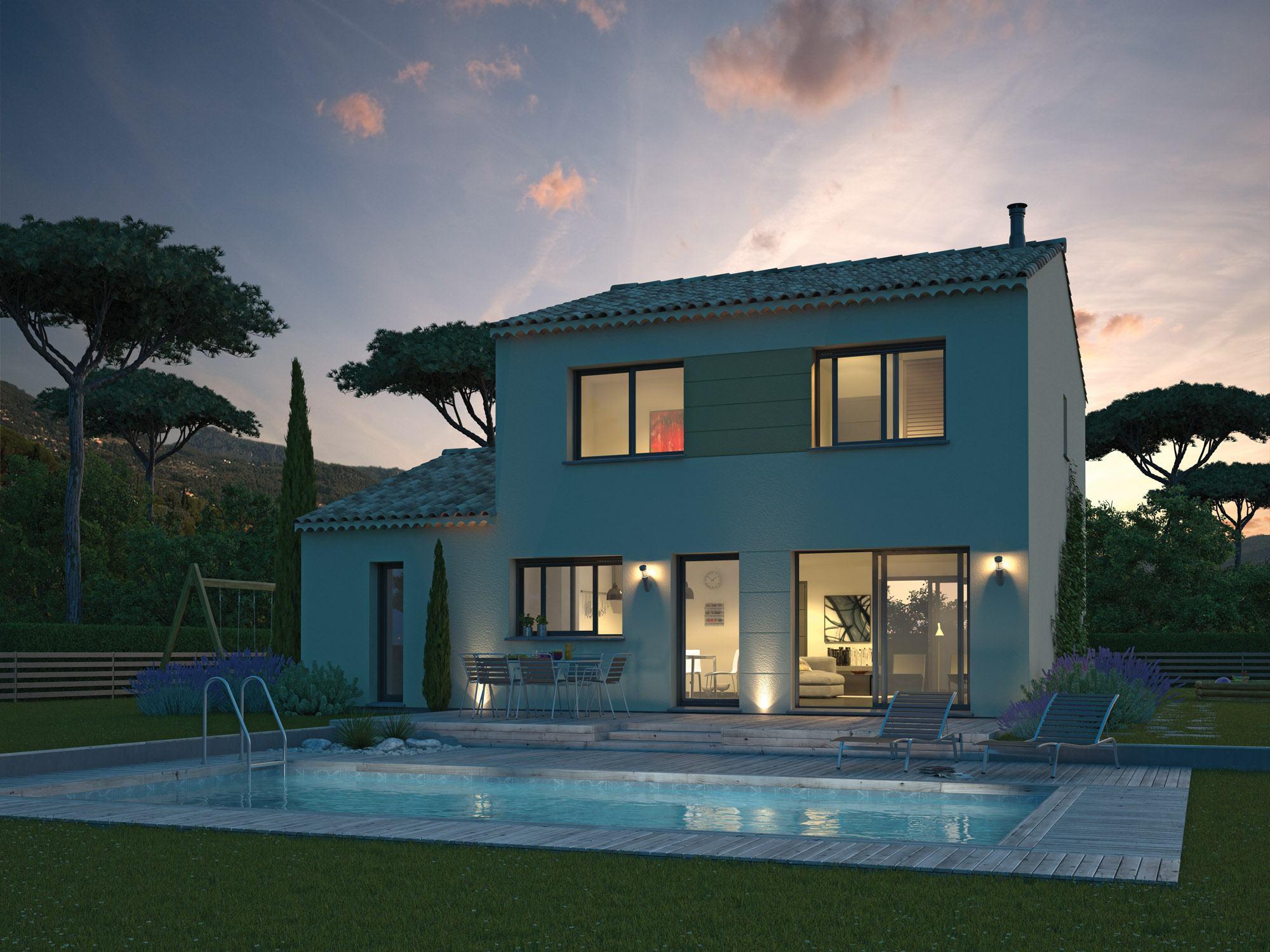 Maisons + Terrains du constructeur MAISON FAMILIALE • 118 m² • SAINT MATHIEU DE TREVIERS
