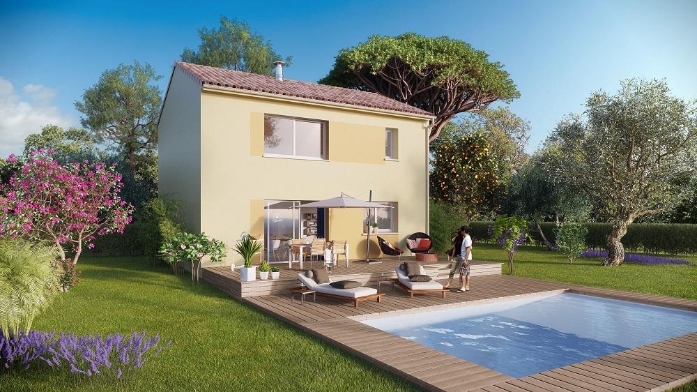 Maisons + Terrains du constructeur MAISON FAMILIALE • 120 m² • SAINT BAUZILLE DE MONTMEL