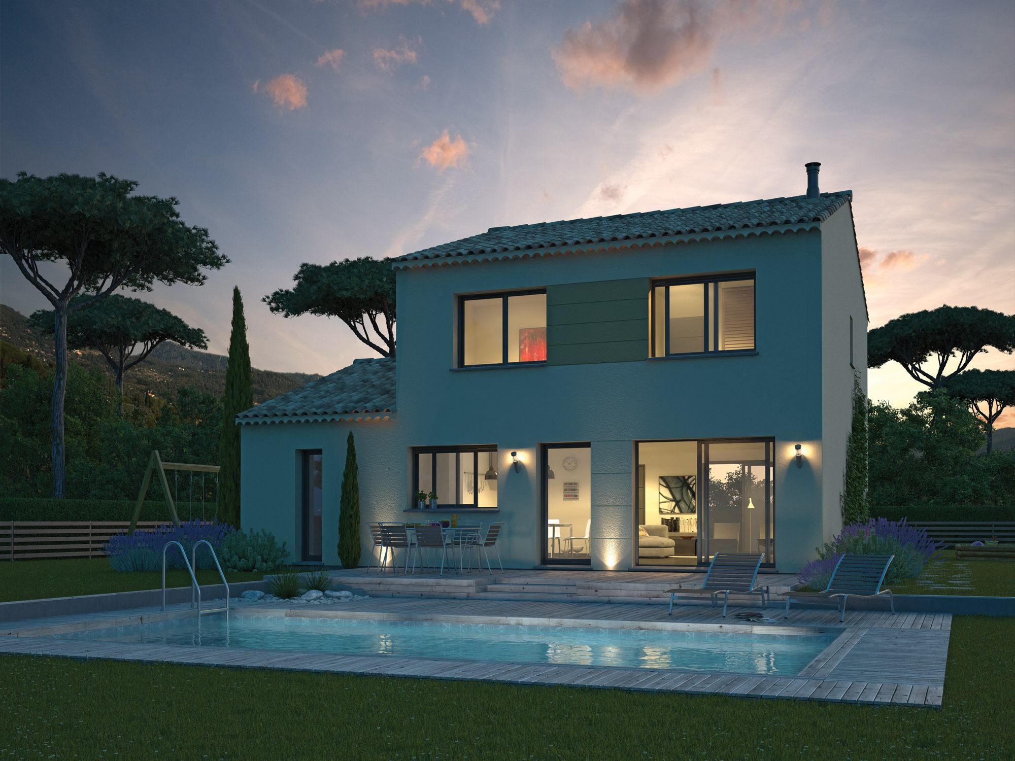 Maisons + Terrains du constructeur MAISON FAMILIALE • 120 m² • CASTELNAU LE LEZ