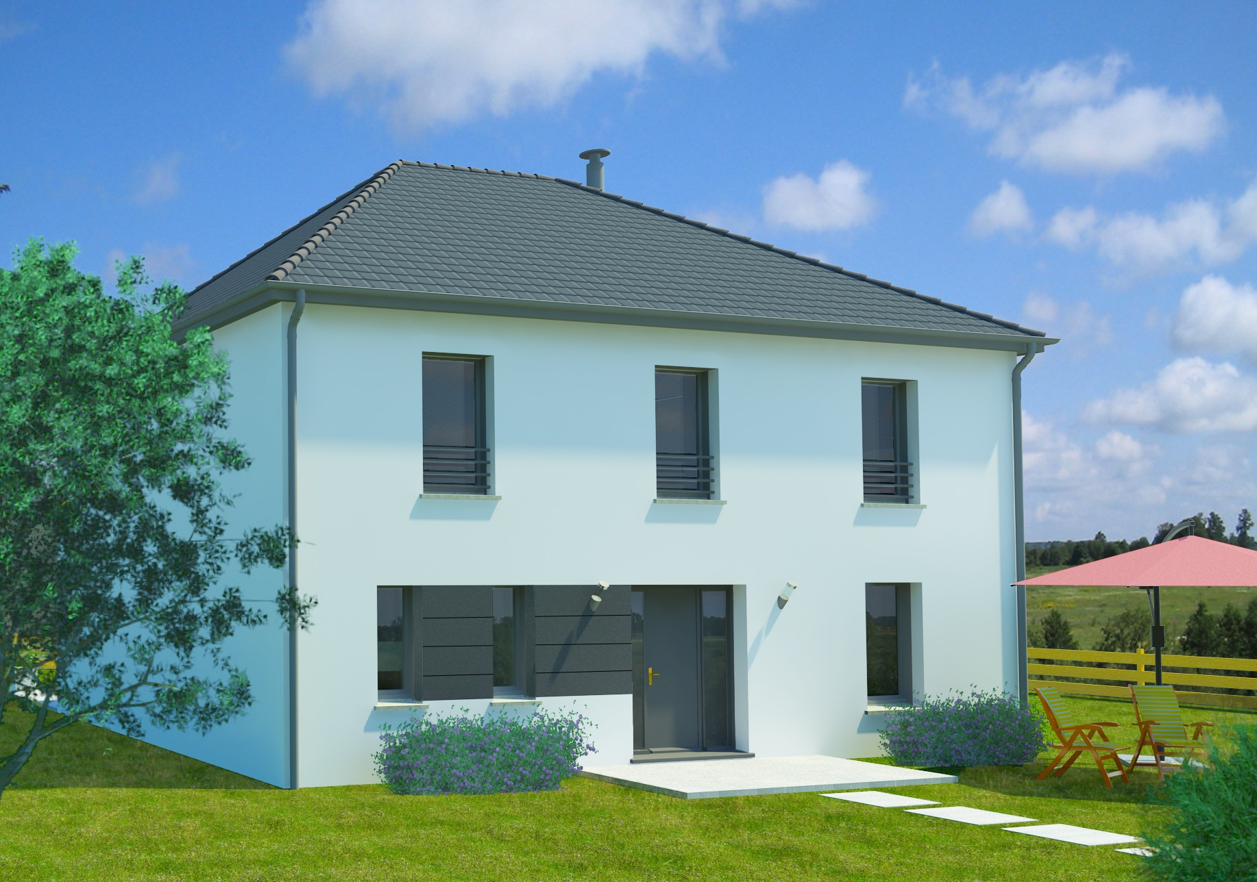 Maisons + Terrains du constructeur MAISON FAMILIALE • 128 m² • EVIN MALMAISON