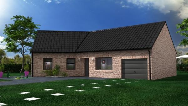 Maisons + Terrains du constructeur MAISON CASTOR LENS • 97 m² • FEUCHY