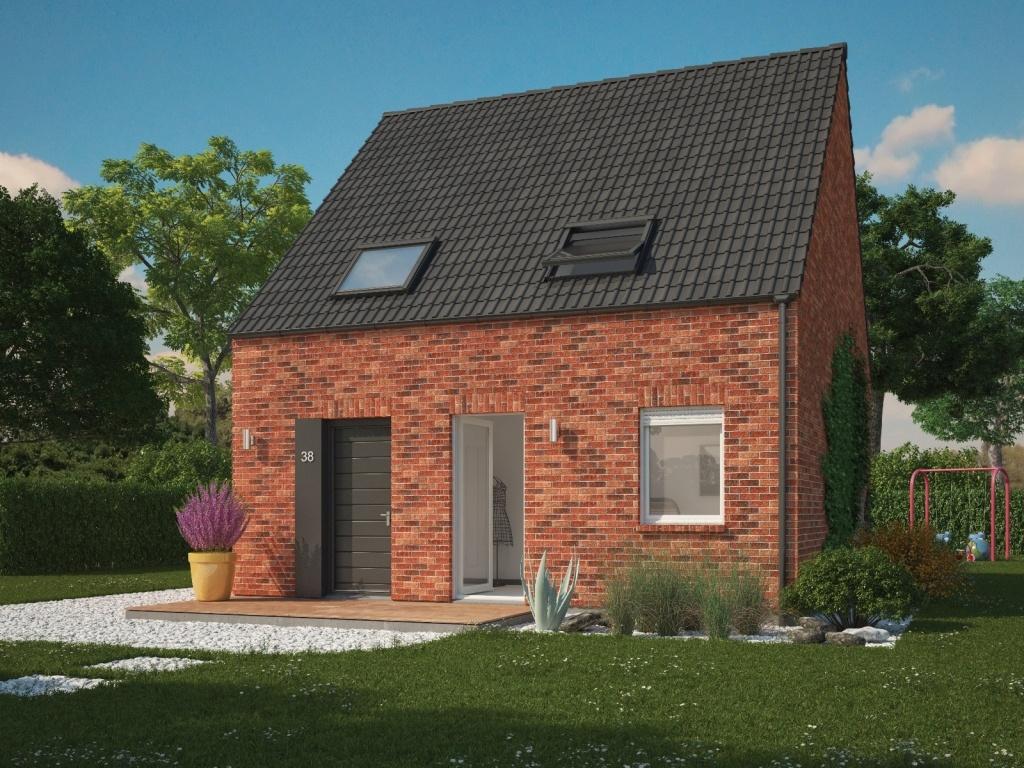 Maisons + Terrains du constructeur MAISONS PHENIX LEZENNES • 90 m² • MERRIS