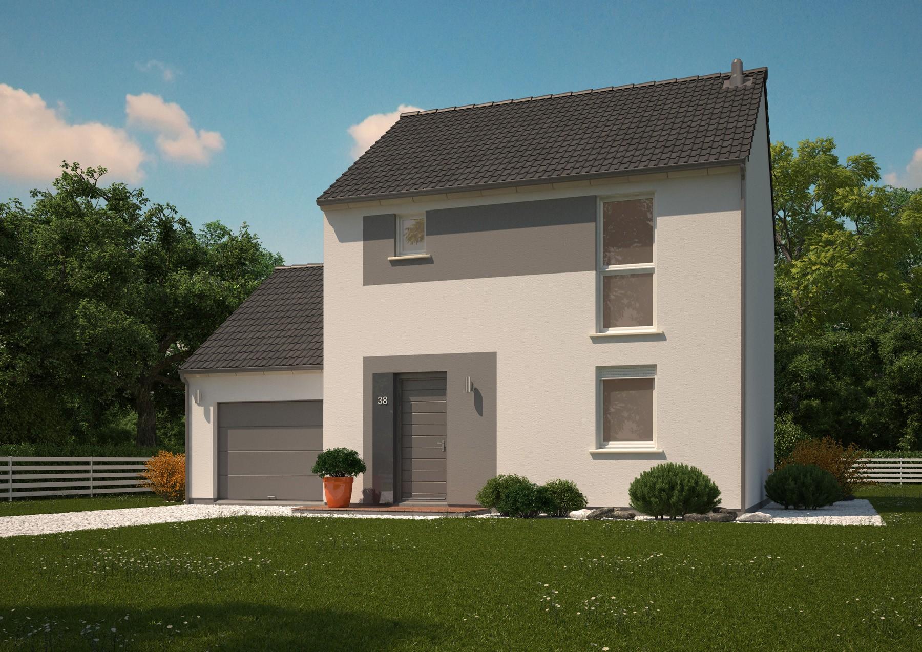 Maisons + Terrains du constructeur MAISONS PHENIX LEZENNES • 90 m² • BERSEE