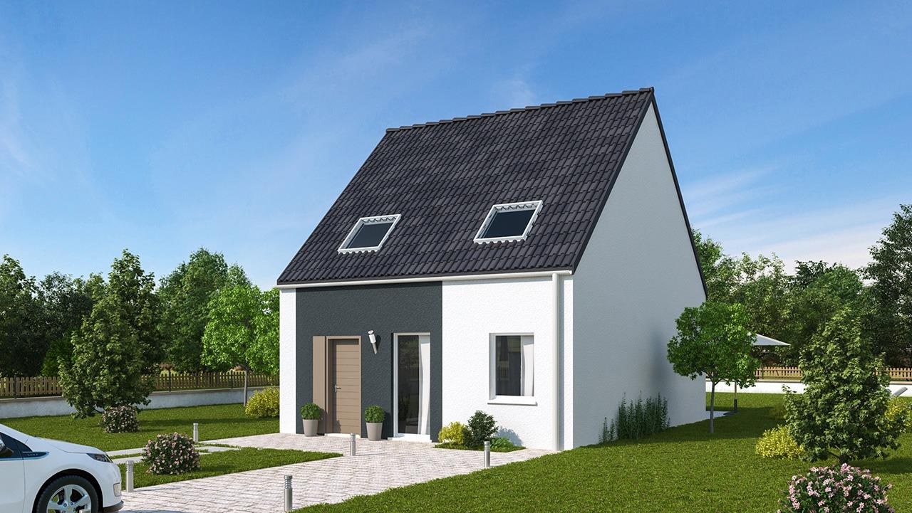 Maisons + Terrains du constructeur MAISONS PHENIX LEZENNES • 90 m² • OSTRICOURT