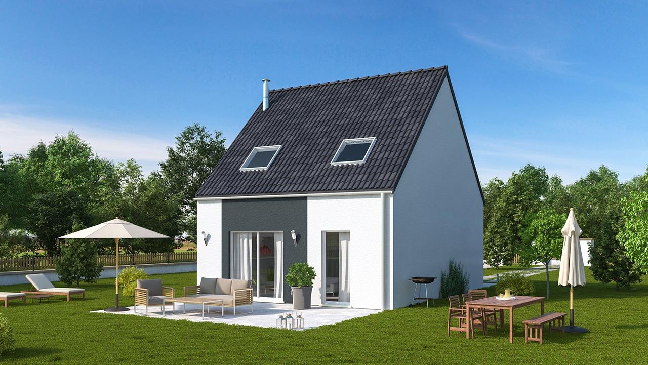 Maisons + Terrains du constructeur MAISONS PHENIX LEZENNES • 90 m² • WAHAGNIES