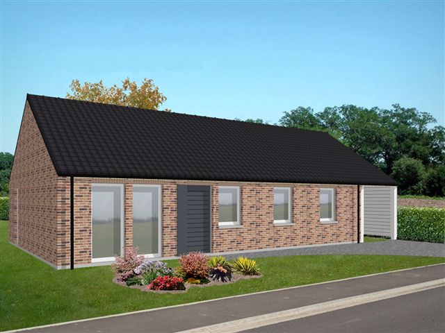 Maisons + Terrains du constructeur MAISONS PHENIX LEZENNES • 89 m² • VIEUX BERQUIN
