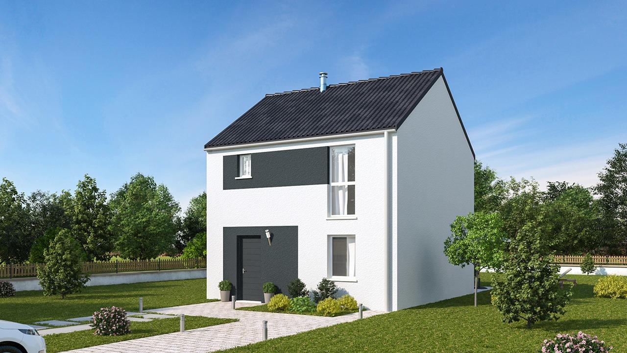 Maisons + Terrains du constructeur MAISONS PHENIX LEZENNES • 90 m² • WATTRELOS