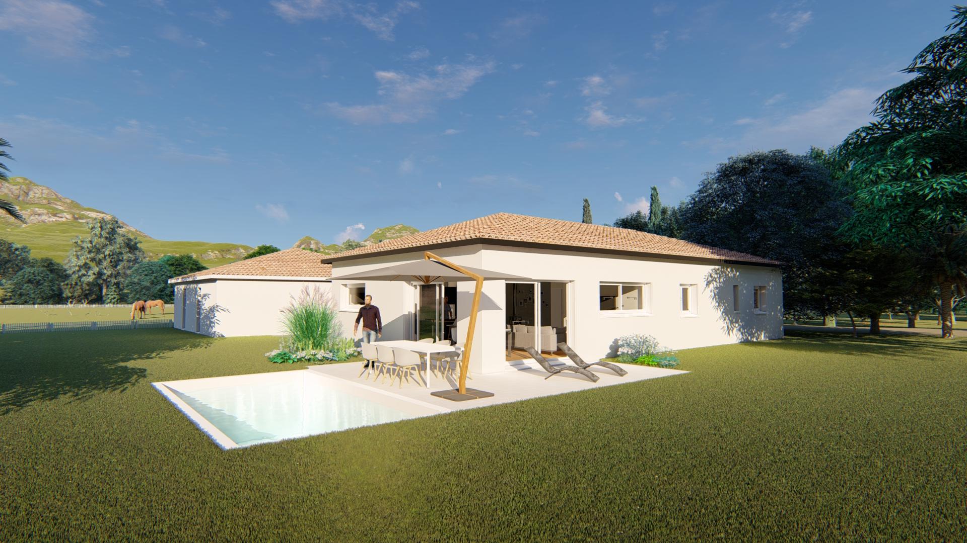 Maisons + Terrains du constructeur VILLAS SUD CREATION • 120 m² • SAINT LOUP CAMMAS