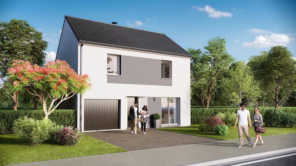 Maisons + Terrains du constructeur MAISON FAMILIALE MOISELLES/BALLER EN F • 91 m² • TREMBLAY EN FRANCE