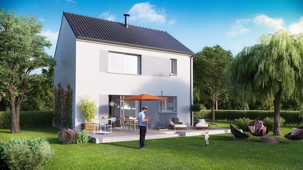Maisons + Terrains du constructeur MAISON FAMILIALE MOISELLES/BALLER EN F • 98 m² • SARCELLES