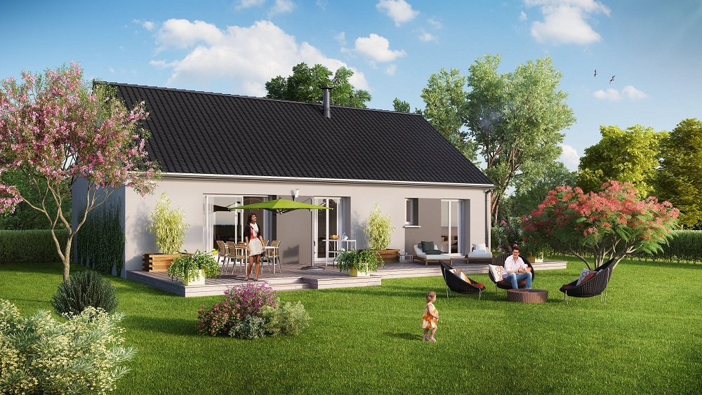 Maisons + Terrains du constructeur MAISON FAMILIALE MOISELLES/BALLER EN F • 104 m² • BEAUMONT SUR OISE