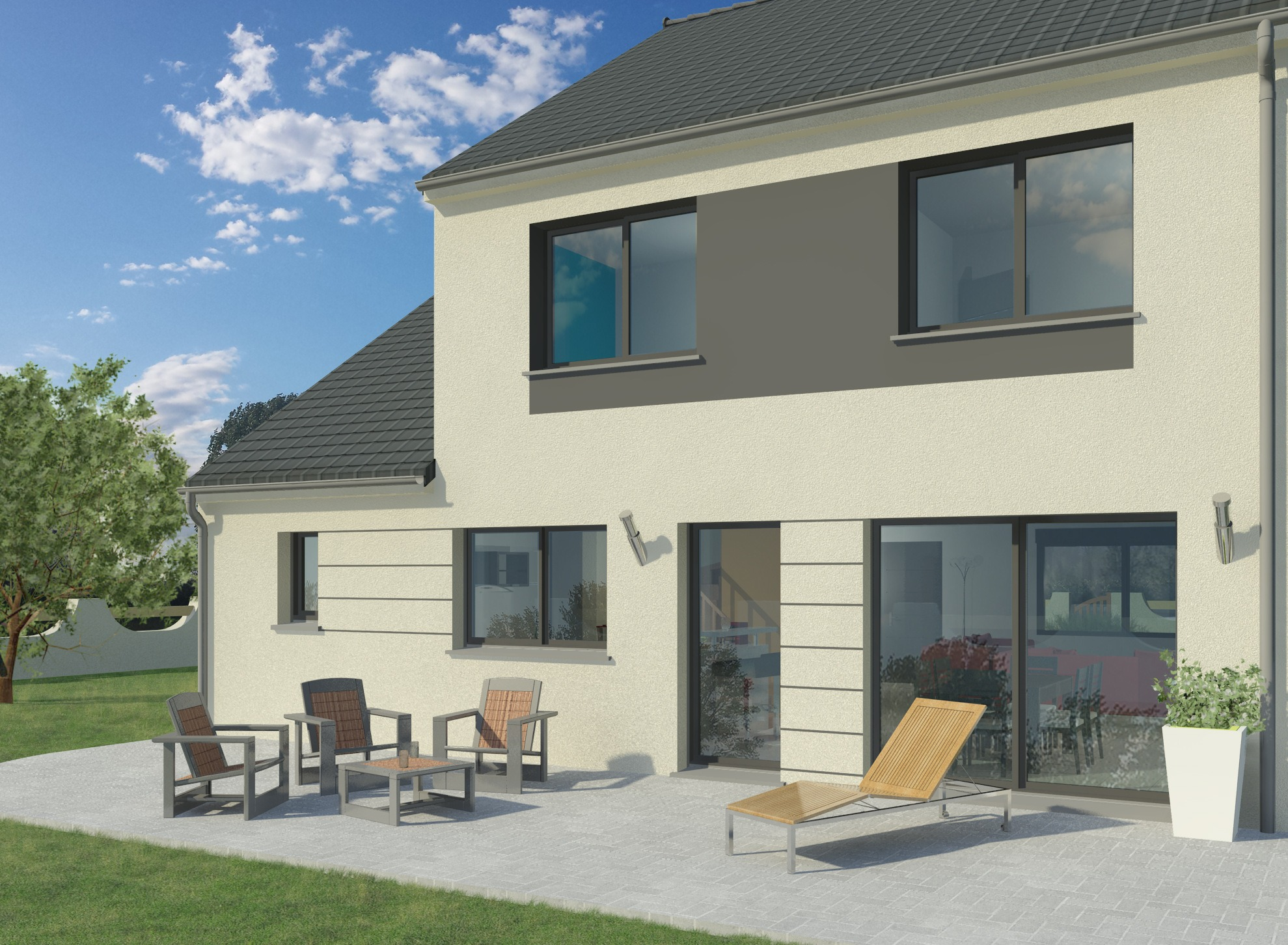 Maisons + Terrains du constructeur MAISON FAMILIALE MOISELLES/BALLER EN F • 118 m² • DAMMARTIN EN GOELE