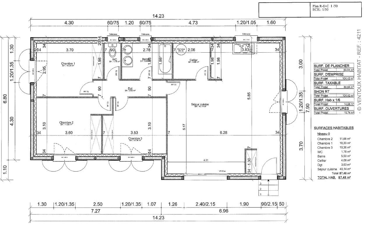Maisons + Terrains du constructeur VENTOUX HABITAT • 87 m² • CARPENTRAS