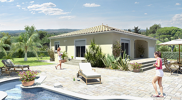 Maisons + Terrains du constructeur MAISONS GUITARD • 90 m² • MONTPELLIER